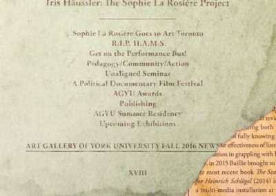 Out There, Secreted Away: Iris Häussler: The Sophie La Rosière Project